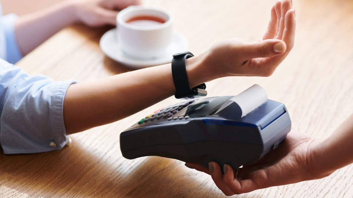 contactless payment using watch over terminal