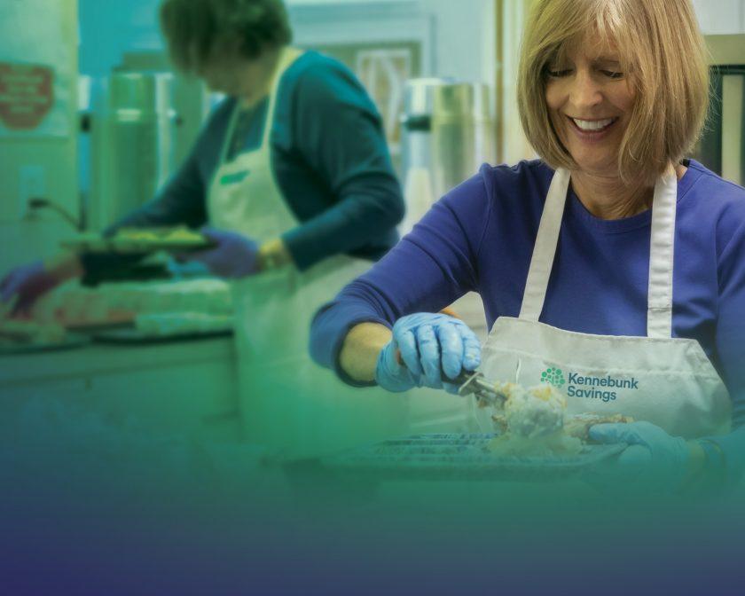 women working in a food kitchen
