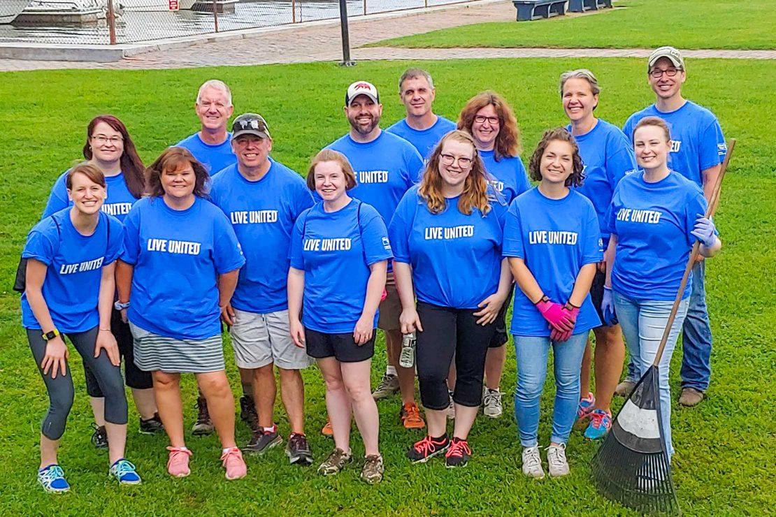 Kennebunk Savings staff volunteering at UWGS Day of Caring