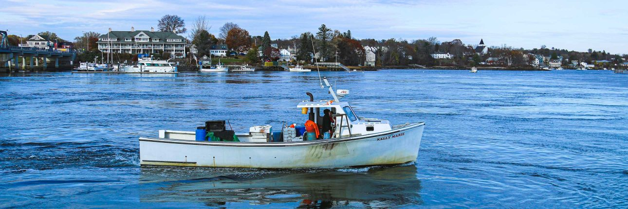 boat on the ocean in portsmouth, new hampshire