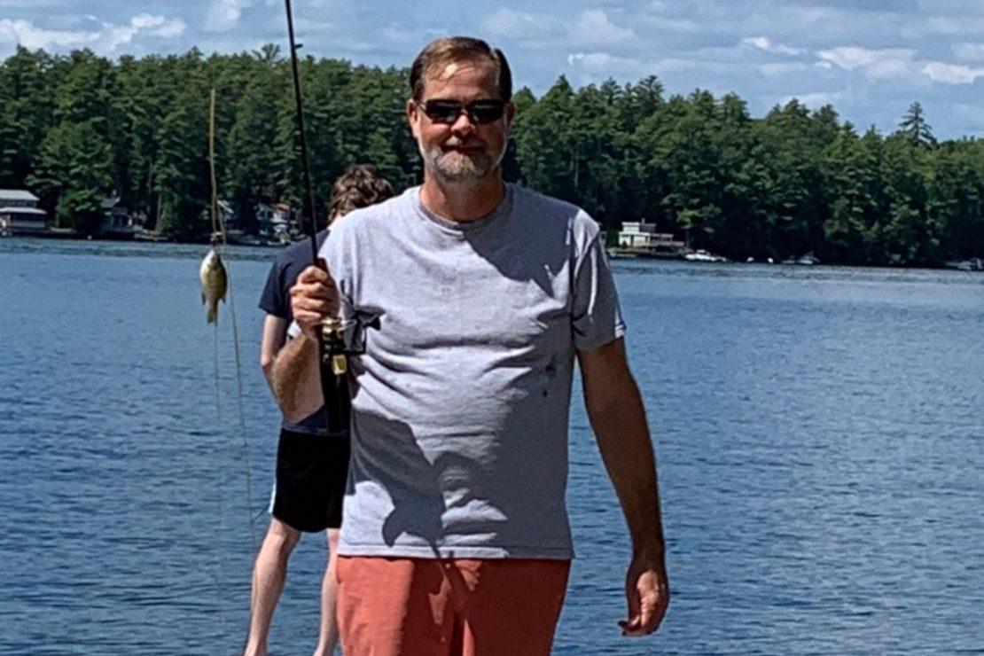 Tom Zuke fishing at a lake