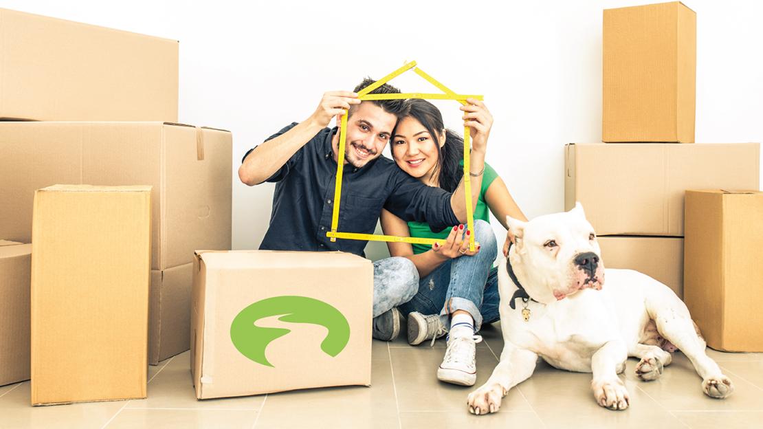 movers, dog, couple, mortgage