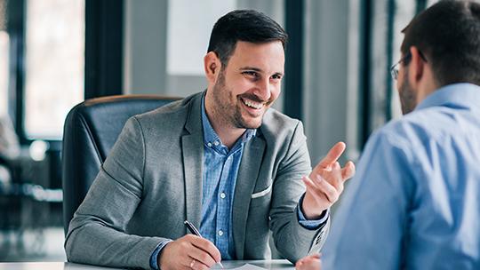 man in meeting