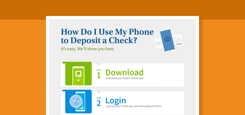 How to use mobile deposit guide
