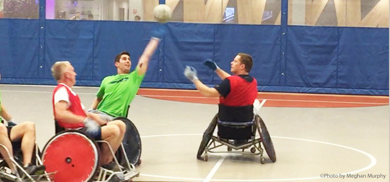 Kennebunk Savings and Northeast Passage Unite for Wheelchair Rugby Experience